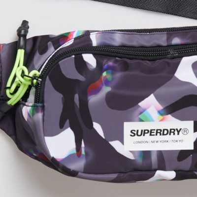 Superdry Limited Edition TV Fuzz Camo Bum Bag Γυναικεία