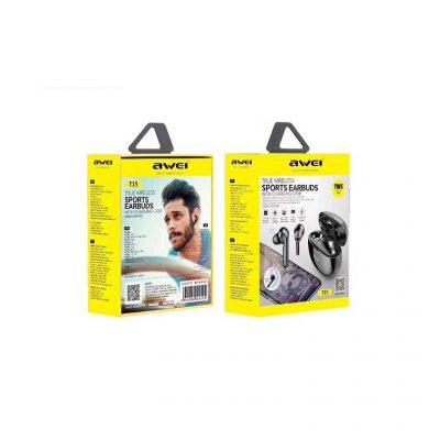 Ασύρματα ακουστικά με βάση φόρτισης – T15 – AWEI – Black